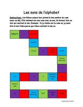 Les sons de l'alphabet (french letter sounds) GAME