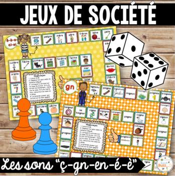 """Les sons """"é"""", """"ç"""", """"en"""", """"è"""", """"gn"""" - jeux de société - Ensemble"""
