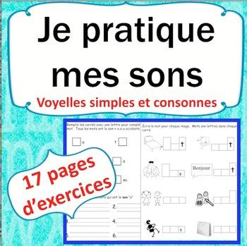 Sons et l'écriture en français cahier 1: French Phonics and Writing Workbook 1