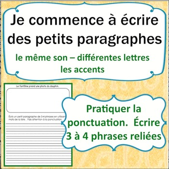 Sons et l'écriture en français cahier 3: French Phonics and Writing Workbook 3