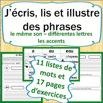 Sons et l'écriture en français cahier 3: French Phonics and Writing Workbook 3