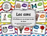 Les sons - 40 affiches arc-en-ciel (40 French Sound Poster