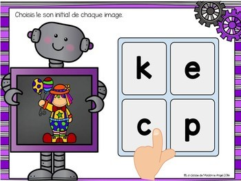 Son initial: French Beginning Sounds Digital Task Cards - BOOM CARDS