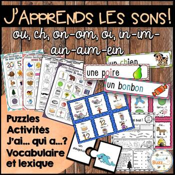 "Les sons ""on-om"", ""oi"", ""ou"", ""ch"", ""in-im-ain-aim-ein"" -"