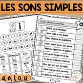 Les sons simples - voyelles - cahier de lecture - French s