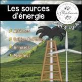 Les sources d'énergie