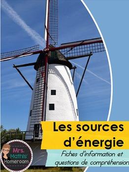 Les sources d'énergie (Energy Sources Info Cards with Ques