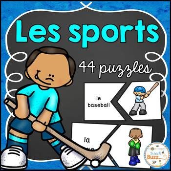 Les sports - 44 puzzles (casse-tête) - French Sports