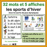 Les sports d'hiver: French Word Wall Winter Sports