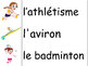 Les sports d'été - French Vocabulary Word Wall for Summer Olympics