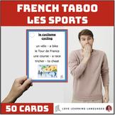 Les sports d'éte et d'hiver- French Taboo Speaking Game-Jeu de Tabou en Français
