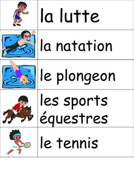 Les sports d'été et les jeux olympiques: Je pratique mon vocabulaire