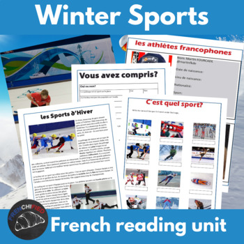 Les sports d'hiver - Winter sports activities for French learners
