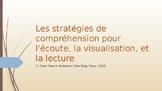 Les stratégies de compréhension pour l'écoute, la visualisation et la lecture