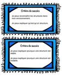 Les structures - Success Criteria