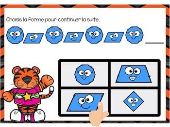 Les suites: French Patterning Digital Task Cards - BOOM CARDS