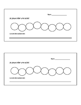 Les suites- patterning centres