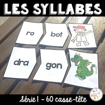 Les syllabes - 60 puzzles de 2 syllabes - French Syllables - Série 1