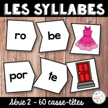 Les syllabes - 60 puzzles de 2 syllabes - Série 2 - French Syllables
