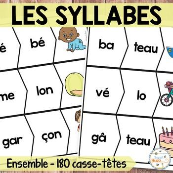 Les syllabes - Ensemble - 120 puzzles de 2 syllabes - Fren