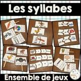 Les syllabes - Ensemble de jeux - French Syllables Games - Bundle
