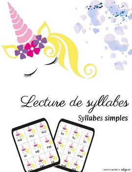 Les syllabes (Licorne) syllabes simples