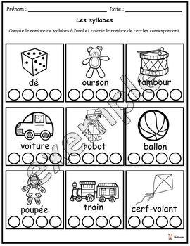 Les syllabes (les jouets)