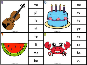 Les syllabes - quelle syllabe entends-tu?