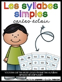Les syllabes simples- cartes éclair