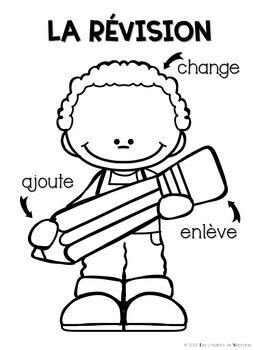 Les tableaux d'ancrage : Les stratégies d'écriture FRENCH WRITING ANCHOR CHARTS