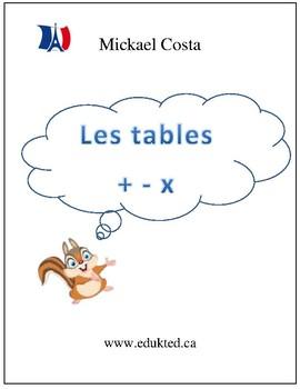 Les tables d'addition, de soustraction et de multiplication (#104)