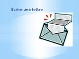 Les étapes d'écriture d'une  lettre