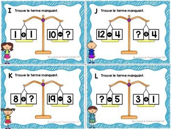 Les termes manquants:  French Balancing Equations BUNDLE