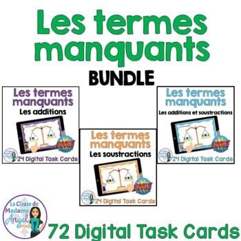 Les termes manquants French Digital Task Cards - BOOM CARDS