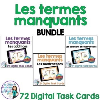 Les termes manquants French Digital Task Cards - BOOM CARDS