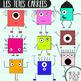 Les têtes carrées- The square heads- shapes cliparts