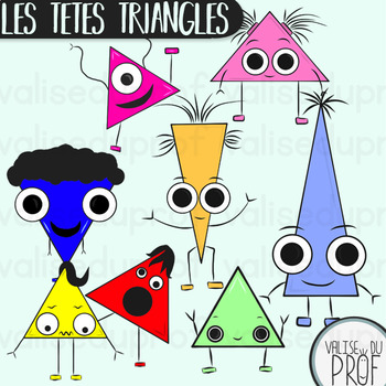 Les têtes triangles - The triangle heads - Shapes cliparts