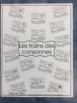 Les trains des consonnes - FRENCH - 17 Phonic Student Work Booklets - Grade 1