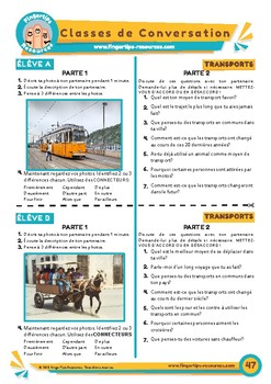 Les transports - French Speaking Activity