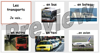 Les transports - learning the different modes of transport