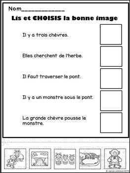 Les trois chèvres ~ Simplified French Three Billy Goats Gruff Reader