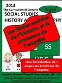 Les Études sociales de l'Ontario et le processus de l'enquête (gr. 1-8) FREEBIE