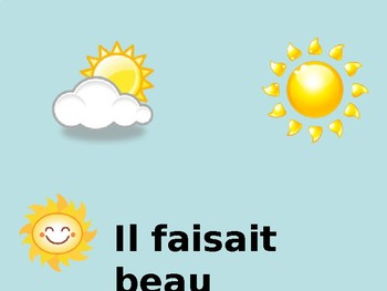 Les vacances / La meteo / Vacations / The weather / Weather in the past