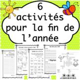 Fin d'année - Les vacances d'été (Distance Learning)
