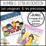 Les vengeurs et les princesses -  Number and Letter BUNDLE