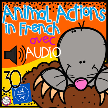 FRENCH BOOM CARDS • Les verbes • Animal Edition avec Audio