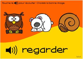 FRENCH BOOM CARDS • Les verbes BUNDLE • avec Audio