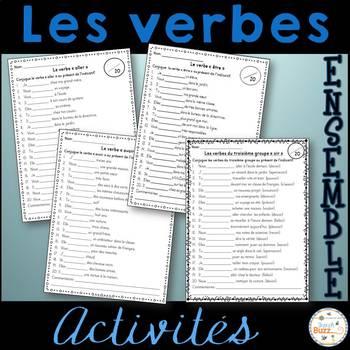 Les verbes - Ensemble d'activités - French Verbs - Bundle