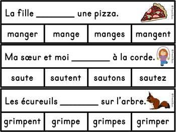 Les verbes - Ensemble jeux d'association - French Verbs - Bundle