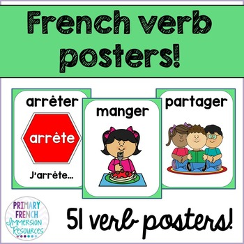 Les verbes - French verb posters!